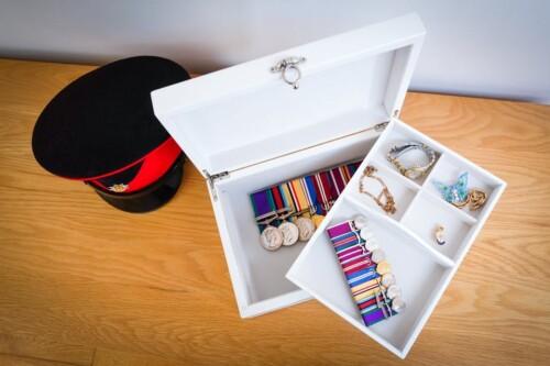Personalised white keepsake box