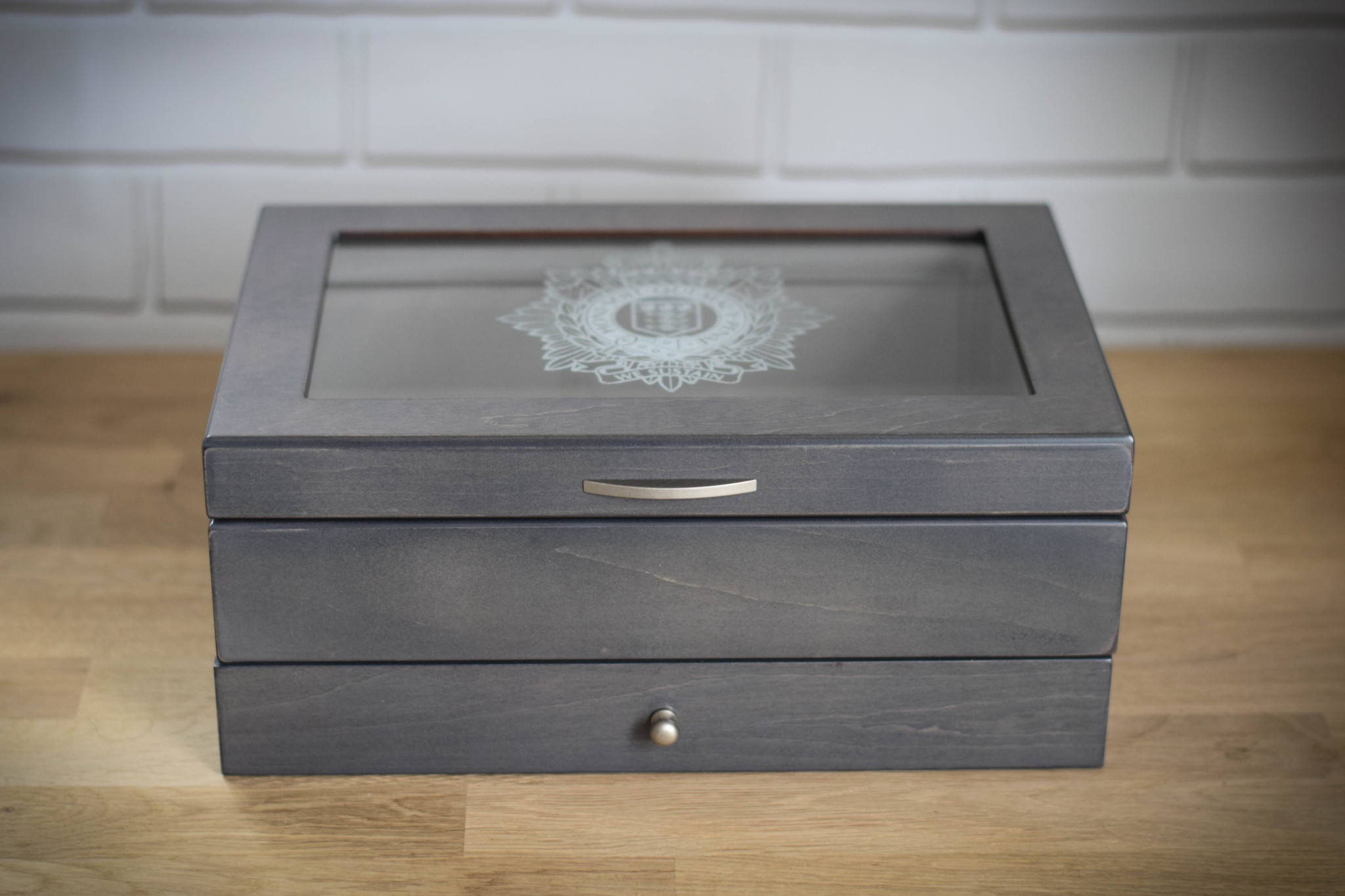 Grey Medal Box